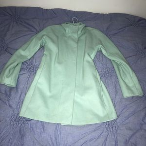 Express Wool Blend Mint Colored Jacket